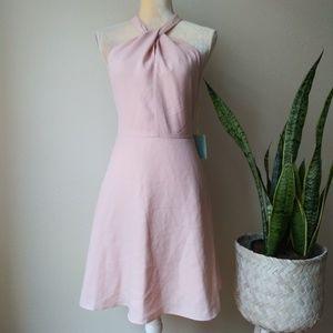 Cece Twist Neck Lace Dress